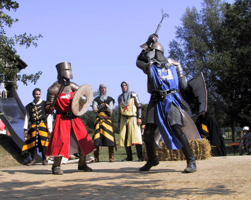Ritterkampf beim Hornsteiner Lagerleben