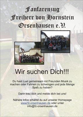 Der Fanfarenzug Freiherr von Hornstein Orsenhausen e.V. sucht neue Mitglieder